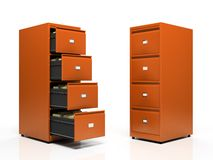 Orange card files Royalty Free Stock Photography