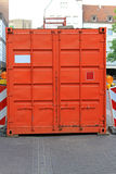 Orange cargo container Stock Photo