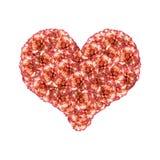 Orange Carnations Heart Royalty Free Stock Image