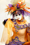 Orange carnival mask Royalty Free Stock Photography