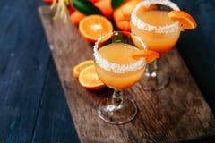Orange carrot cocktail Royalty Free Stock Image