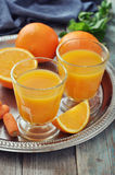Orange and carrot juice Stock Photo
