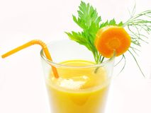 Orange carrot juice healthy drink Royalty Free Stock Image
