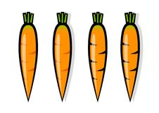 Orange carrots Royalty Free Stock Photo
