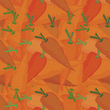 Orange carrots seamless pattern Stock Photography