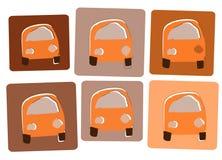 Orange cars2 Royalty Free Stock Images