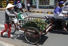 Orange cart, Hanoi Royalty Free Stock Image