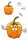 Orange cartoon bell pepper vegetable Stock Images