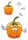 Orange cartoon bell pepper vegetable Stock Images