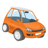 Orange cartoon car Stock Image