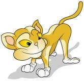 Orange Cartoon Cat Royalty Free Stock Images