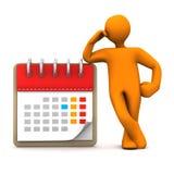 Manikin Calendar Royalty Free Stock Photos
