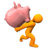Piggy Bank Burden Royalty Free Stock Photos