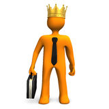 Businessman Crown Royalty Free Stock Photography