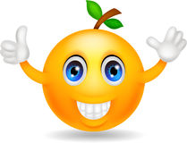 Orange cartoon character Stock Images