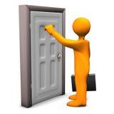 Frontdoor Knocking Stock Photography