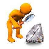 Diamond Loupe Manikin Stock Photo