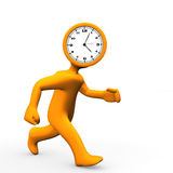Clock Head Run Royalty Free Stock Photo
