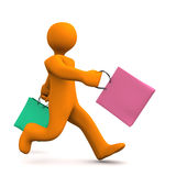 Shopping Stress Royalty Free Stock Photos