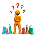 Shopping Question Royalty Free Stock Photo