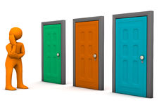 Doors Option Stock Photography