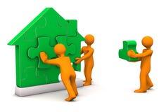 Puzzle House Manikin Stock Image