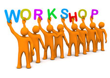 Workshop Manikins Royalty Free Stock Photography