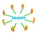 Team Circle Royalty Free Stock Photos
