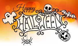 Happy Halloween Sign Background Royalty Free Stock Photos