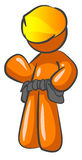 Orange cartoon man  Royalty Free Stock Images