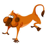 Orange cartoon monkey. Vector image of happy orange cartoon monkey vector illustration