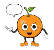 Orange Cartoon With Text Royalty Free Stock Photography
