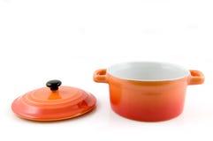 Orange casserole Royalty Free Stock Photography