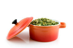 Orange casserole with split peas Royalty Free Stock Image
