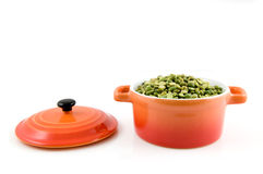 Orange casserole with split peas Stock Images