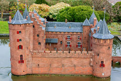 Orange castle miniature in Madurodam Royalty Free Stock Photography