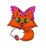 Orange cat big eyes Royalty Free Stock Images