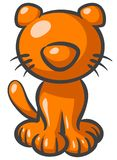 Orange cat cartoon Stock Photography