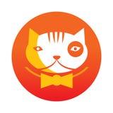 Orange cat logo. Vector illustration Royalty Free Stock Photo