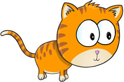 Orange Cat Vector Royaltyfri Fotografi