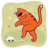 Orange cat(vector) Royalty Free Stock Photo