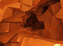 Orange cave Stock Images