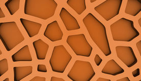 Orange cell mesh concept Royalty Free Stock Photo