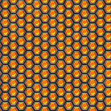 Orange cells. Metal background. Royalty Free Stock Photography