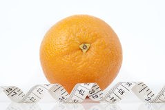 Orange and centimeter Stock Photo