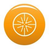 Orange centrale d'icône de cible illustration stock