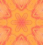 Orange centrerat rött för sömlös vanlig blom- modell vektor illustrationer