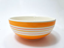 orange ceramic bowl Royalty Free Stock Image