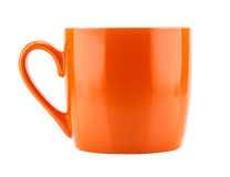 Orange ceramic mug Stock Photos