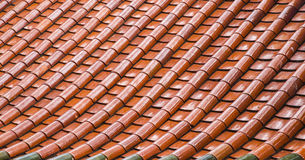 The Orange ceramic roof pattern Royalty Free Stock Photography